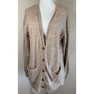 Madewell Brown Knit Button Cardigan